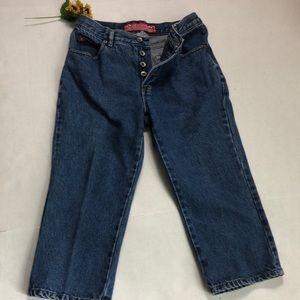 Vintage No Excuses Button Fly Capri Jeans Size 7-8